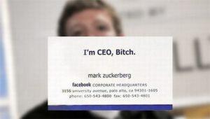 Mark Zuckerberg's Business Card